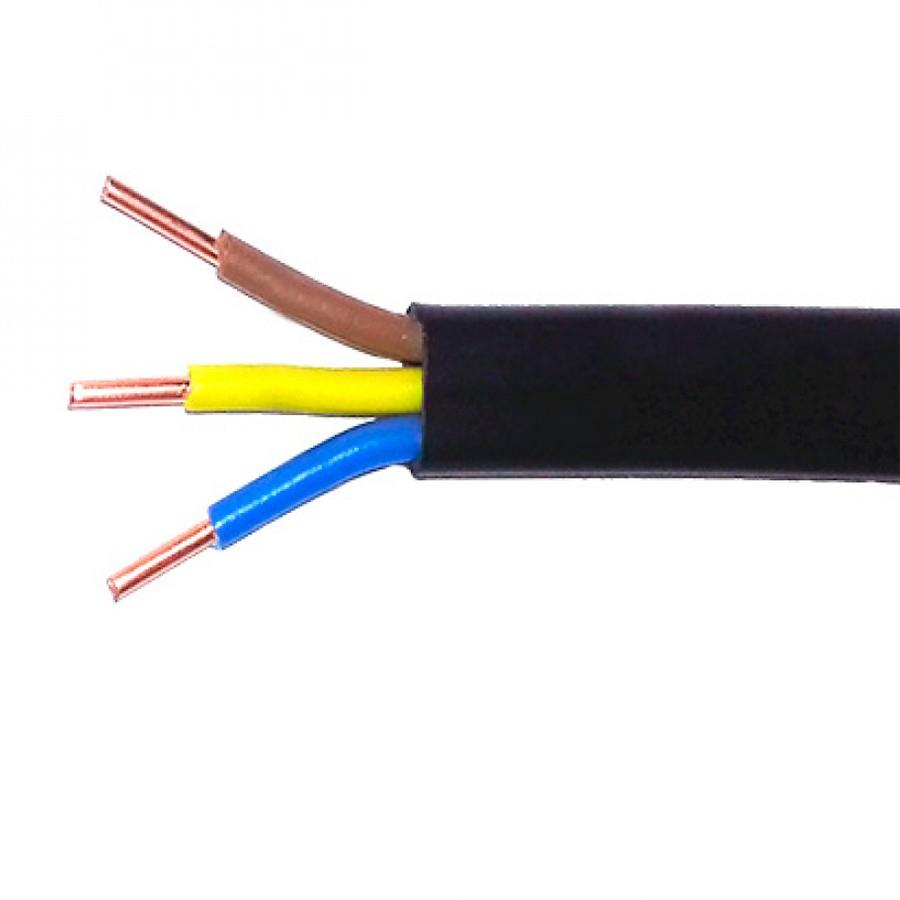Подключение розетки должно быть выполнено трехжильным медным кабелем сечением не менее 2,5 мм.кв