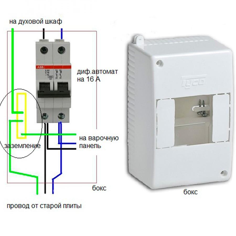 Розетку необходимо подключить к дифференциальному автомату с максимальным током отсечки 16 А