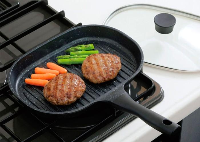Овальная сковорода-гриль