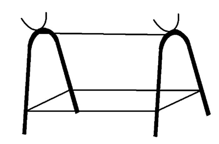 Схема подставки для мангала из баллона