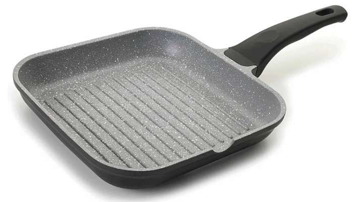 Сковорода-гриль с антипригарным каменным покрытием
