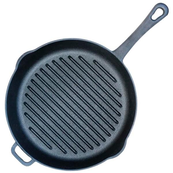 Сковорода-гриль с литой ручкой