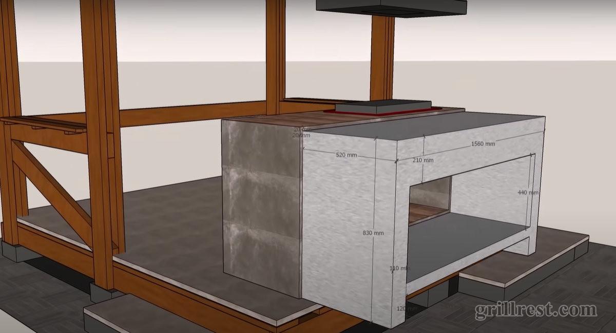 Каркас гриль-стола будет сделан из трёхметрового профиля ГВЛ