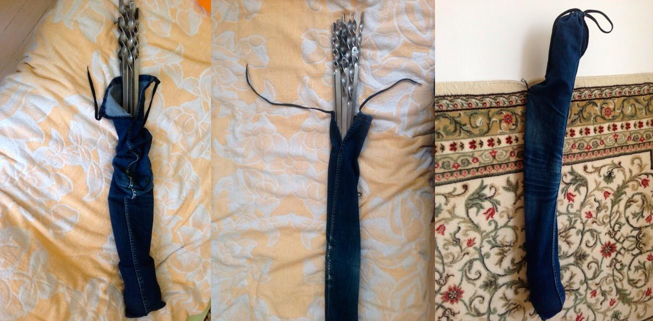 Чехол для шампуров из джинс