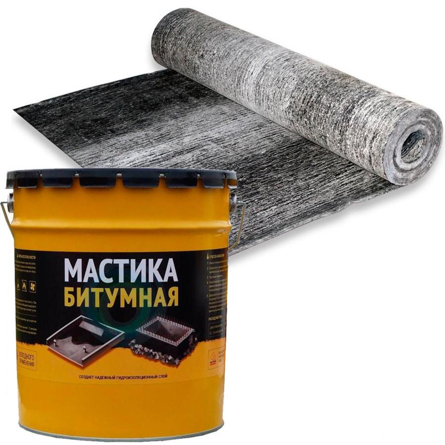Рубероид, битумная мастика для гильзования гнезд и нанесения защитного покрытия на опоры