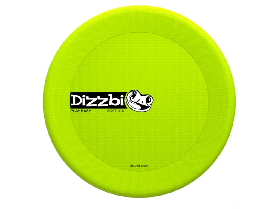 Фрисби мягкий Dizzbi Soft 310, безопасный, салатовый