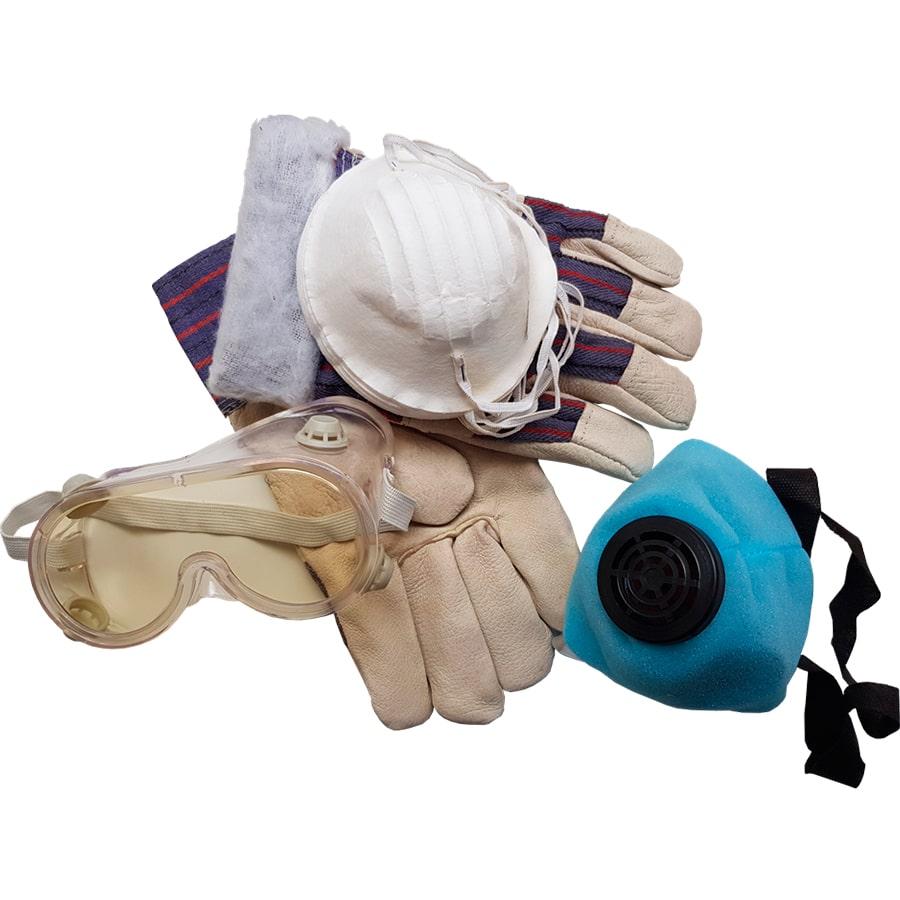 Респиратор и перчатки