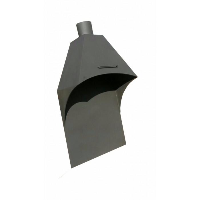 Зонт-вытяжка для зон барбекю с фартуком