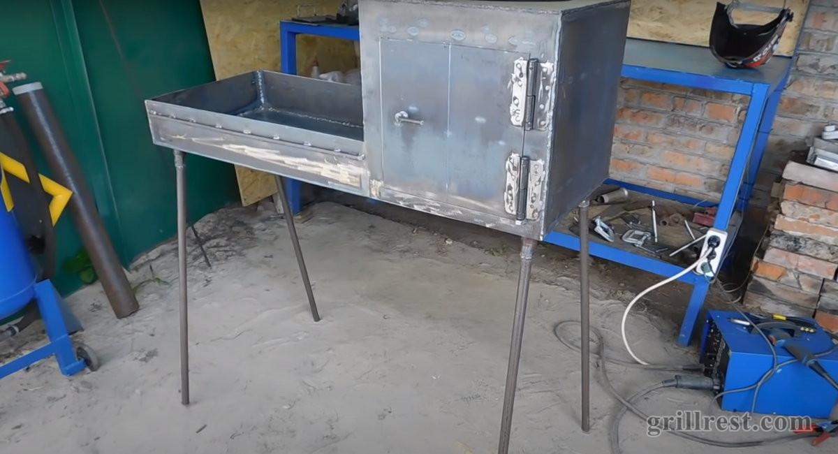 Готовый конструкция мангала