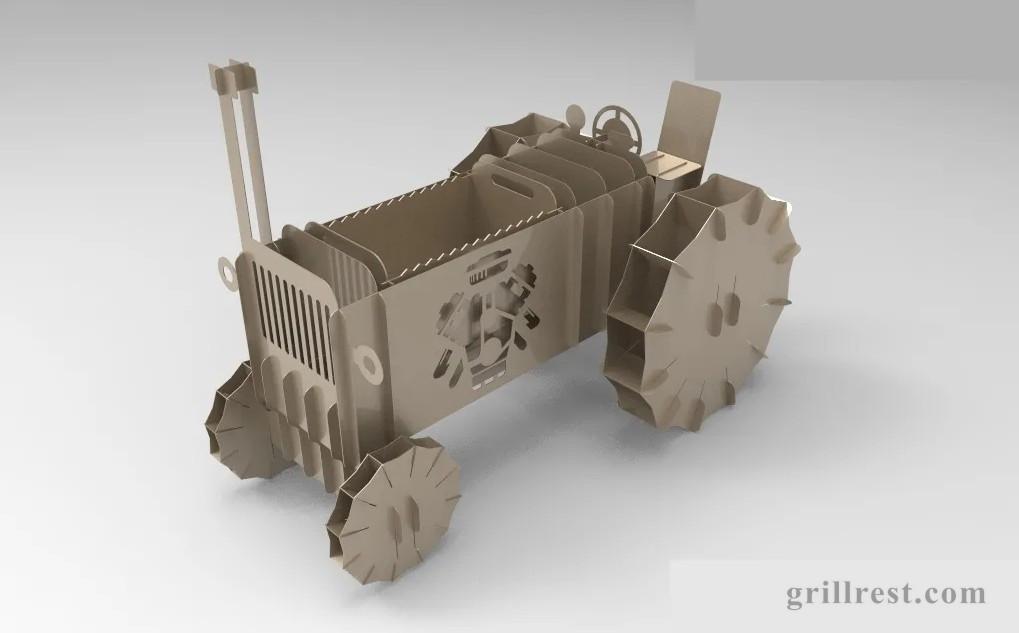 мангал трактор